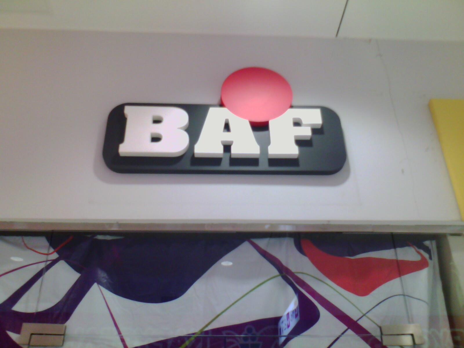 "Магазин ""BAF"", буквы из пенопласта, ТЦ ""Талисман"""